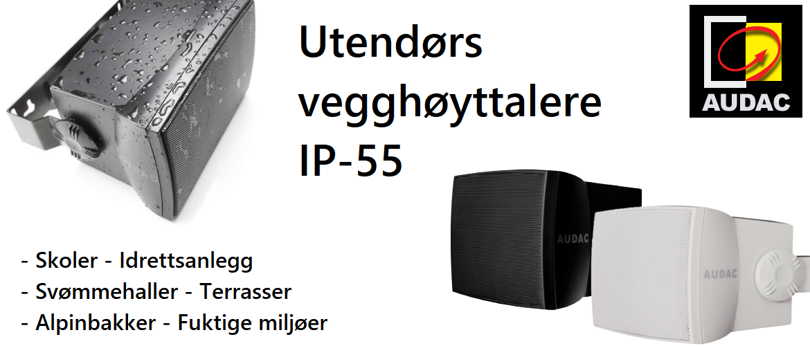 Audac for utendørs installering